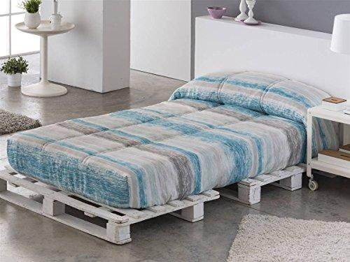 Sansa - Edredón Ajustable Palma Cama 90 - Color Azul