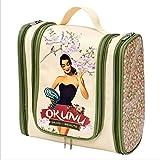 Klassische Damen Kosmetiktasche Reisekosmetik Bad Handtasche Vintage Retro Okunu 5109207130