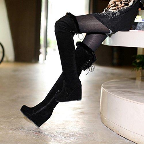GRRONG Stivali Di Moda Stivali Con Stivali E Stivali Black
