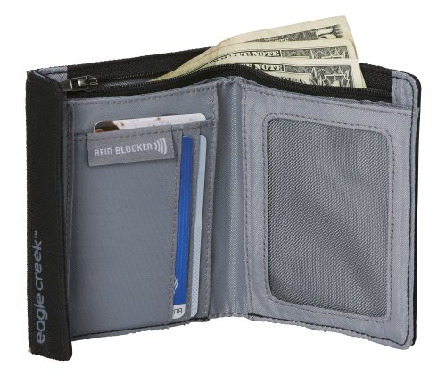 Eagle Creek RFID International Geldbörse, 19cm, Schwarz