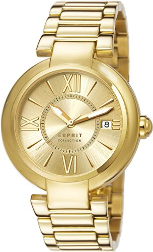 Esprit Damen-Armbanduhr Aletheia Analog Quarz Edelstahl EL102012F07