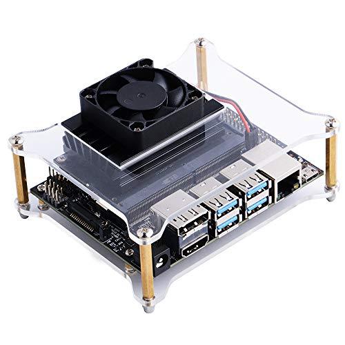 GeeekPi Carcasa de acríli con Ventilador para NVIDIA Jetson Nano Developer  Kit Small AI Potente computadora