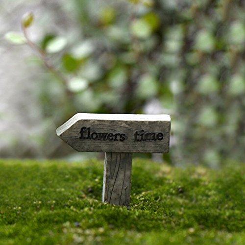 Morehappy71Mini Craft Kunstharz Schild Forest Anzeige Micro Cottage Landschaft Dekoration für DIY Kunstharz Crafts Miniatur Fairy Garden Ornament Road Signs, Style