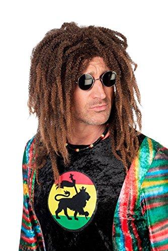 Wilbers Herren Perücke Rasta Dreadlock zu Jamaika Hippie Karneval Fasching