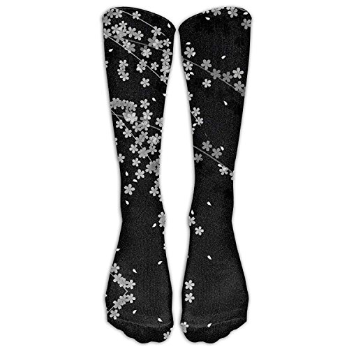 Japanese Cherry Blossoms Below High Socks Suits Women & Men Athletic Sports Socks Stocking Cherry Blossom Cast