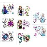 Disney Frozen (Eiskönigin) - 1 Bogen Haut Tattoo - teilbar auf 8 Abschnitte mit je 2 Motiven