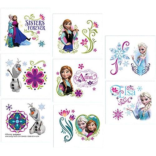 Disney frozen (frozen)-1arco pelle tattoo-divisibile su 8sezioni ciascuno con 2motivi