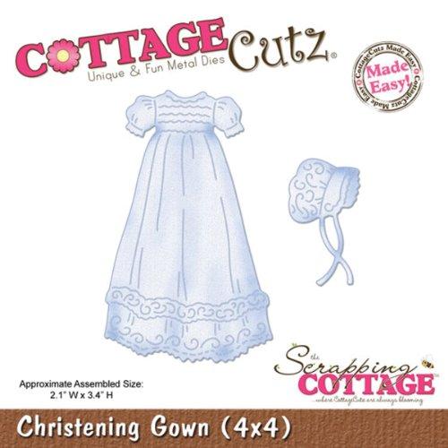 Cottage Cutz 4-Zoll Taufkleid sterben Schnitte mit Schaumstoff - Cutz Cottage