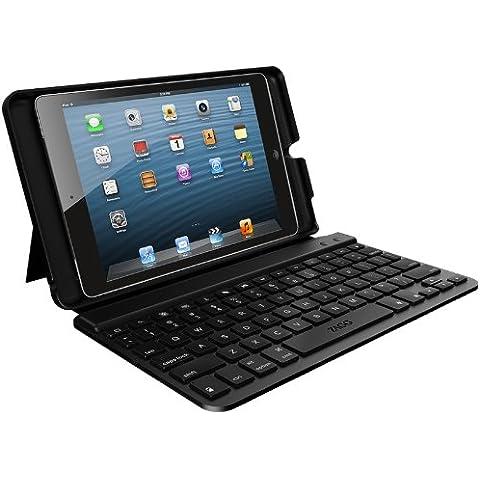 Zagg FOLBSLBLK103 teclado para móvil - teclados para móviles (Negro, Cuero, Apple, iPad Mini, QWERTY,