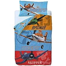 Disney Aviones Heros Saco nórdico de 2 Piezas para Cama de 90 cm, Mezcla De