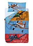Disney Aviones Heros Saco nórdico de 2 Piezas para Cama de 90 cm, Mezcla De Algodón, Multicolor, 25x90x190 cm