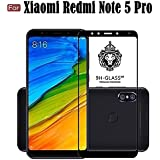 Cedo Xpro Full Coverage 5D Edge To Edge Tempered Glass Screen Protector For Xiaomi Redmi Note 5 Pro (Full Glass Black)