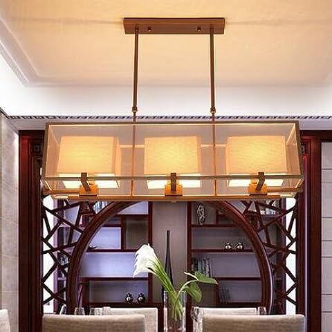KHSKX Rettangolare di nuovo ristorante Cinese, moderno minimalista sala lampadario antiquariato lampade cinesi creative ferro battuto bar lampada da tavolo 920*600mm