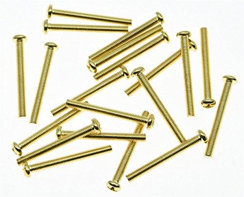 kaish 20x Gold Gabelschlüssel Größe Humbucker Pickup Höhe Schraube Anpassung Schrauben