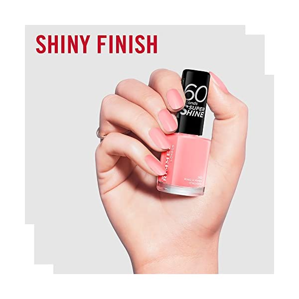 Rimmel London uñas maquillaje de 60 segundos de Super Shine Nail Polish Nr. 262 anillo A Ring O Rosas 8 ml