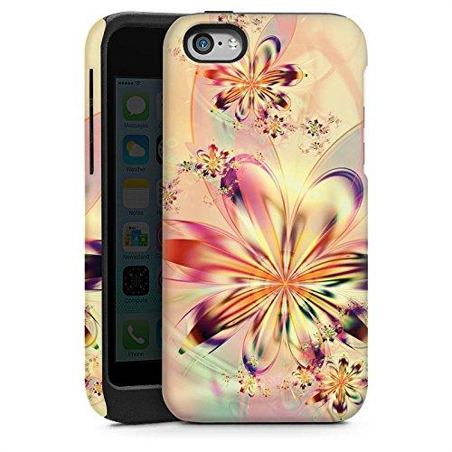 Apple iPhone 5 Housse étui coque protection Fleurs Fleurs Motif Cas Tough brillant