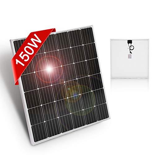 DOKIO 150W Solarpanel 12V Monokristallin - Solarmodul 150 Watt ideal für Wohnmobil, Camping, Gartenhaus