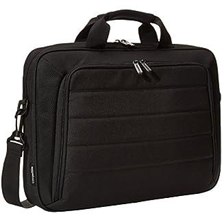 AmazonBasics – Maletín para ordenadores portátiles y tabletas, negro, 40cm