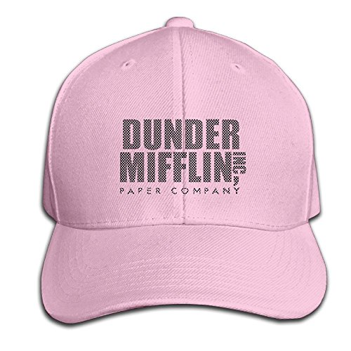 hittings-cotton-dunder-mifflin-paper-inc-solid-cap-snapback-hats-baseball-caps-for-unisex-adult-pink