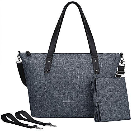 S-ZONE Baby Windel Große Tasche Handtasche Anti Wasser mit Wickelauflage und Stroller Riemen