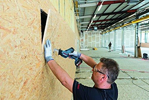 Bosch Professional Akku Säbelsäge GSA 18 V-LI C (2x 5,0 Ah Akku, Ladegerät, 3x Sägeblatt, L-Boxx, Schnitttiefe in Holz/Stahl: 200 mm/16 mm, 18 Volt) - 2
