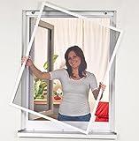 Mako Easy Life 886005A  Insektenschutz Fenstergitter Alurahmen 120 x 140 cm, weiß