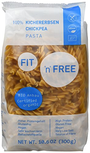 Preisvergleich Produktbild FIT 'n' FREE Bio Kichererbsen Pasta,  3er Pack (3 x 300 g)
