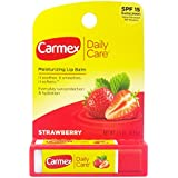 Carmex Daily Care Lip Balm, Strawberry, 0.15 Oz (Stick In Carded Box)