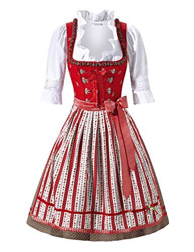 Stockerpoint Damen Dirndl Kimberley Rot (Rot)