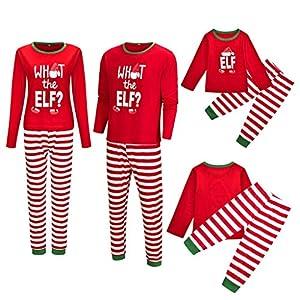 SCU-SS Pijama Navidad Emparejamiento Familiar Conjunto Papá Mamá Chica Chico Navidad Ropa De Dormir Equipar Manga Larga… 2