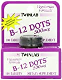 Twinlab B12 Dots 500mcg (100 Vegetarian Tablets)
