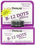 Twinlab B12 Dots 500mcg (100 Vegetarian Tablets)