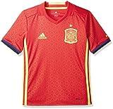 adidas Jungen Fußball/Heim-Trikot UEFA Euro 2016 Spanien Replica, Scarlet/Bright Yellow, 164
