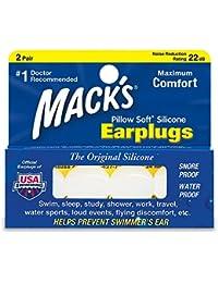 Oreille de Mack Aqua Bloc en silicone doux pour sports d'eau–Macks Bouchons d'oreille Natation