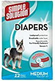 Simple Solution Pañales para perros, desechables