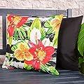 Bean Bag Bazaar® Gartenkissen Sitzpolster – 43cm x 43cm – wasserabweisend mit einer Textilfaserfüllung–, dekoratives Zierkissen für Gartenbänke, Stühle oder Sofas von Bean Bag Bazaar bei Gartenmöbel von Du und Dein Garten