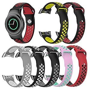 Samsung Gear S2 Uhr Armband für Herren Damen,Smart Intelligent Uhr Silikon Sportuhr Armband Uhrenarmband Ersatz Band Bügel für Samsung Gear S2 SM-R720 / SM-R730 mit Adapter
