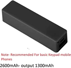 SaleOn 2600 mAh Universal Mobile Power Bank(Black/White)-706