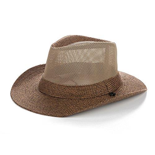Gorro MEIDUO Sombrero de Playa Sombrero al aire libre de los hombres  Sombrero de paja de 200796cf03c