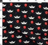 Luftballon, Roter Ballon, Papierschiffchen, Clown Stoffe -