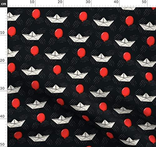 llon, Papierschiffchen, Clown Stoffe - Individuell Bedruckt von Spoonflower - Design von Lanrete58 Gedruckt auf Satin ()