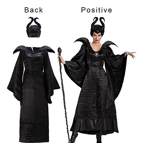 Kleid Halloween Damen Frauen Sexy Cosplay Kostüm Dark Devil Witch Queen Sleeping Fluch Stage Kleidung M Black