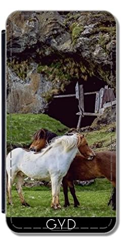 Flip Cover Case for Samsung Galaxy S6 Edge (SM-G925) - Ponys colts horses animals by Grab My Art