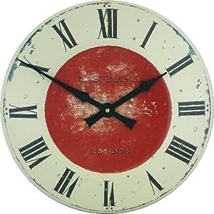 Roger Lascelles Grande horloge murale Émail véritable