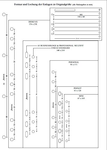 Filofax 133055 Personal Kontakte Adressbuch