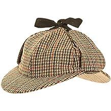 7a7d346ce65 Herren Mütze aus Tweed im Jäger Sherlock Holmes Stil Countrymütze -  Mehrfarbig
