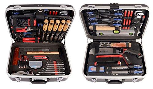 Projahn 8684 Proficraft Werkzeugkoffer SCHREINER 92-tlg. / Werkzeugkasten / Werkzeug Set - umfangreiches Sortiment für Schreinertätigkeiten / robuster ABS-Kunststoff / abschließbar / Übersichtliche Anordnung