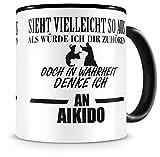 Samunshi® Ich denke an Aikido Tasse Kaffeetasse Teetasse Kaffeepott Kaffeebecher Becher