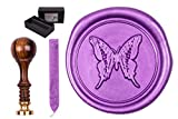Sigillum Stamp Set 'with Engraved Butterfly, 1 bar Wax