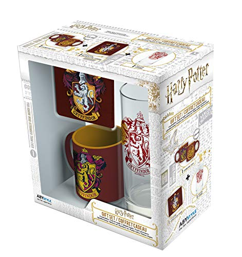 ABYstyle - HARRY POTTER Glass Pack 29cl + Posavasos